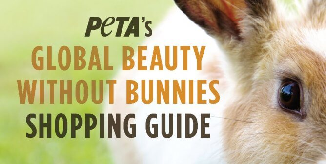 PETA's Global Beauty Without Bunnies Shopping Guide