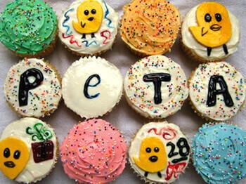 Birthday Cupcakes for PETA!