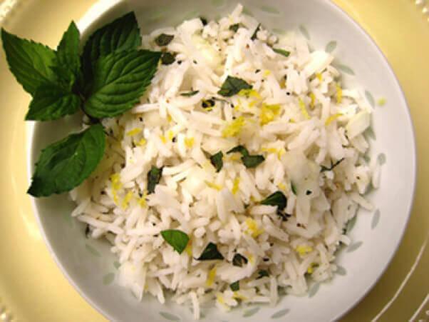 Lemony Mint Rice