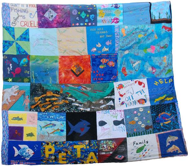 World's First Fish Empathy Quilt | PETA : fishing quilt - Adamdwight.com
