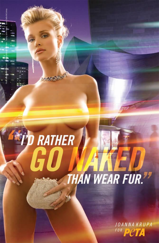 "Joanna Krupa ""I'd Rather Go Naked"" ad"