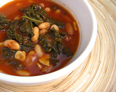 'Sausage,' Kale, and White Bean Stew