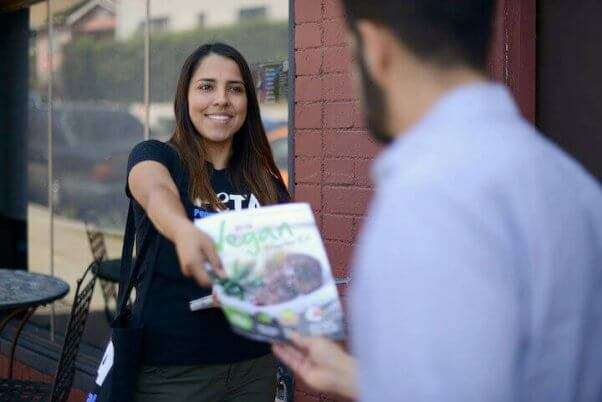 Leafletting, Vegan Outreach, Vegan Starter Kit, PETA