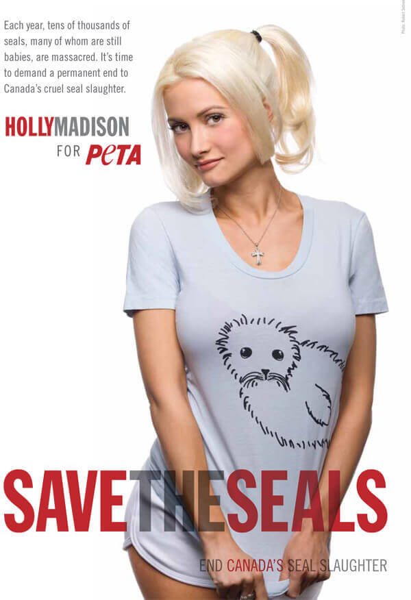 HOLLY MADISON: SAVE THE SEALS PSA