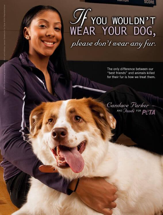 Candace Parker PSA (PETA)