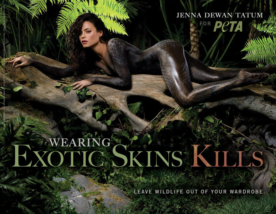 JENNA DEWAN TATUM: WEARING EXOTIC SKINS KILLS PSA