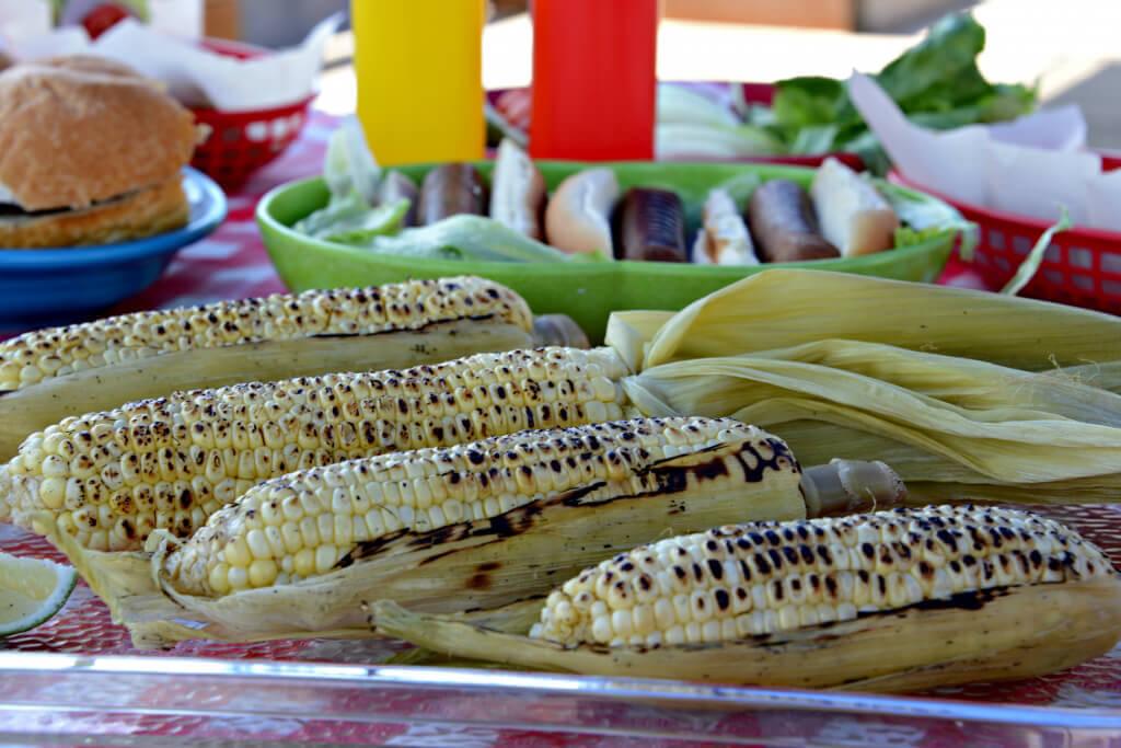 vegan bbq recipes - grilled corn