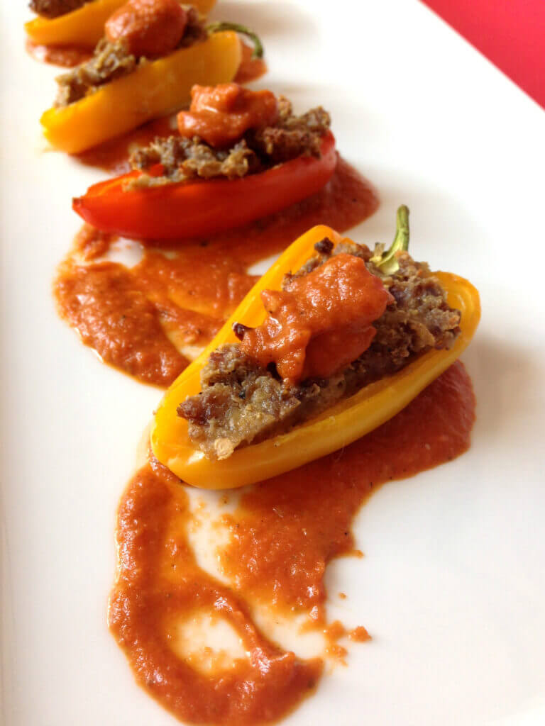 Stuffed mini-peppers