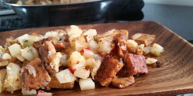 "Potato and ""Bacon"" Hash"