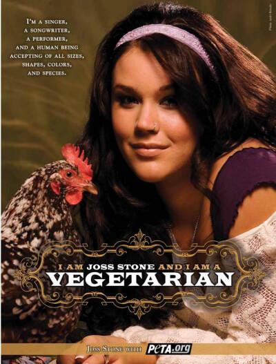 Joss Stone Vegetarian PSA