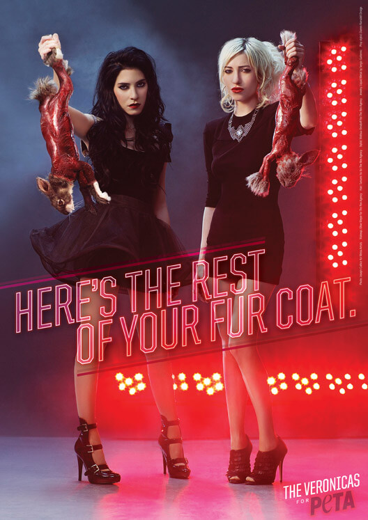 the veronicas show off the rest of your fur coat peta