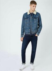 faux-shearling-mens-denim-jacket-topshop
