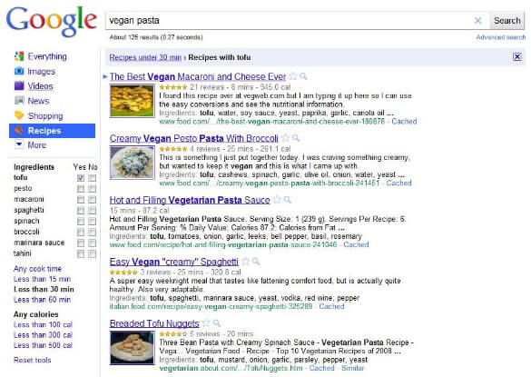 Google Recipe Makes Cooking Easy