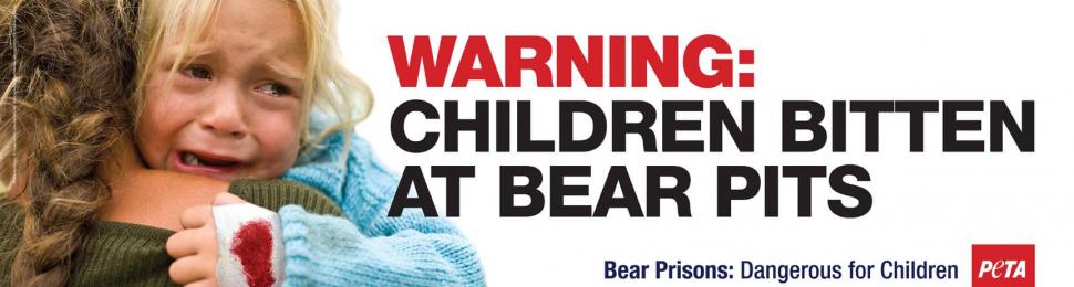 Warning: Children Bitten at Bear Pits