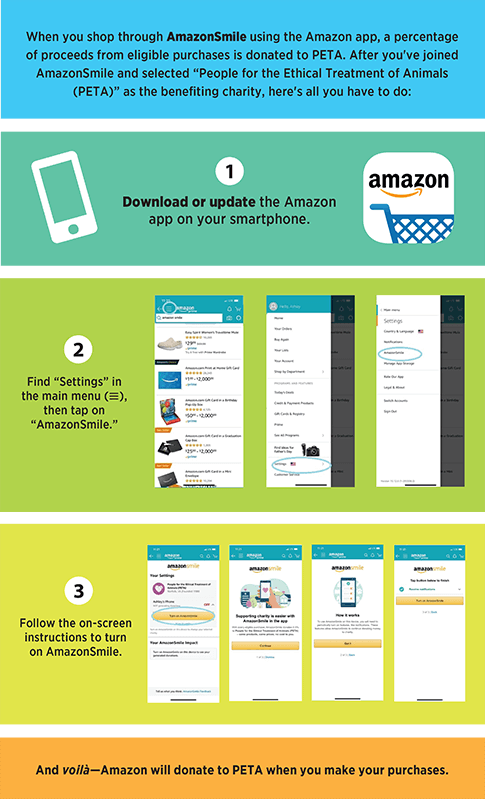 Directions on how to use Amazon Smile