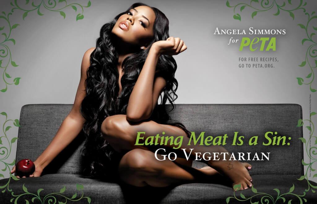 Angela Simmons Vegetarian PSA (1)