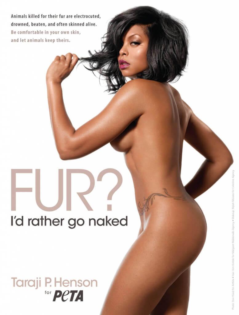 Taraji P. Henson: Fur? I'd Rather Go Naked PSA