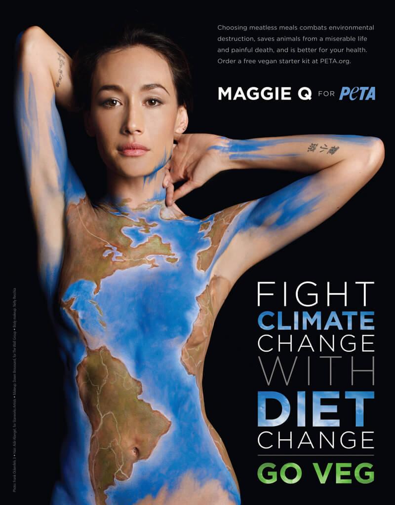 Maggie Q ad 2013