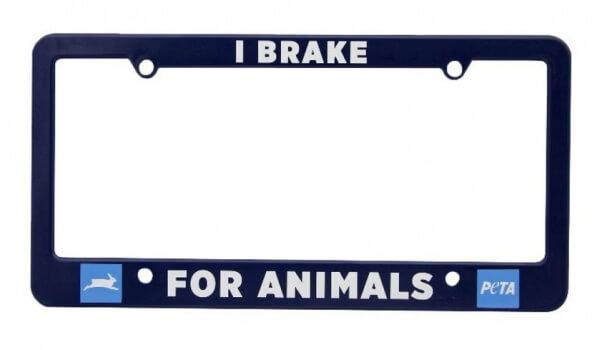 i break for animals license plate