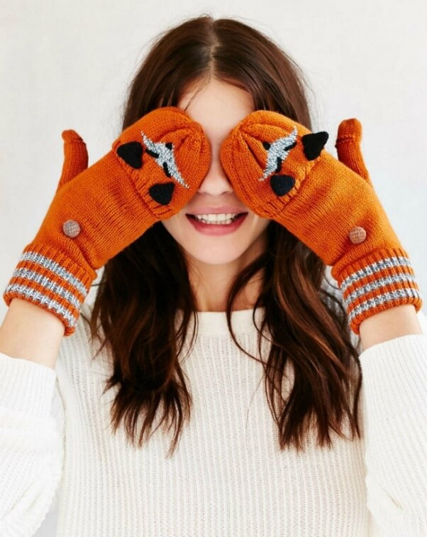 urban outfitters animal mittens