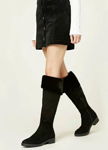 forever-21-vegan-suede-fur-boots