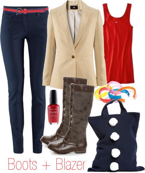 Fashion Friday: Boots   Blazer