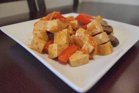 Sweet and Sour Tofu With Vegetables