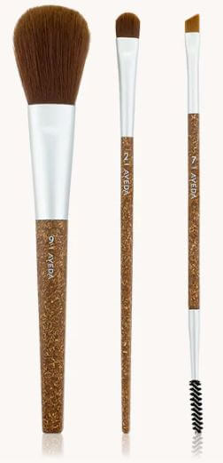 Arbonne brushes feel super soft, and their natural reclaimed wood handles are dyed with water-based pigment.