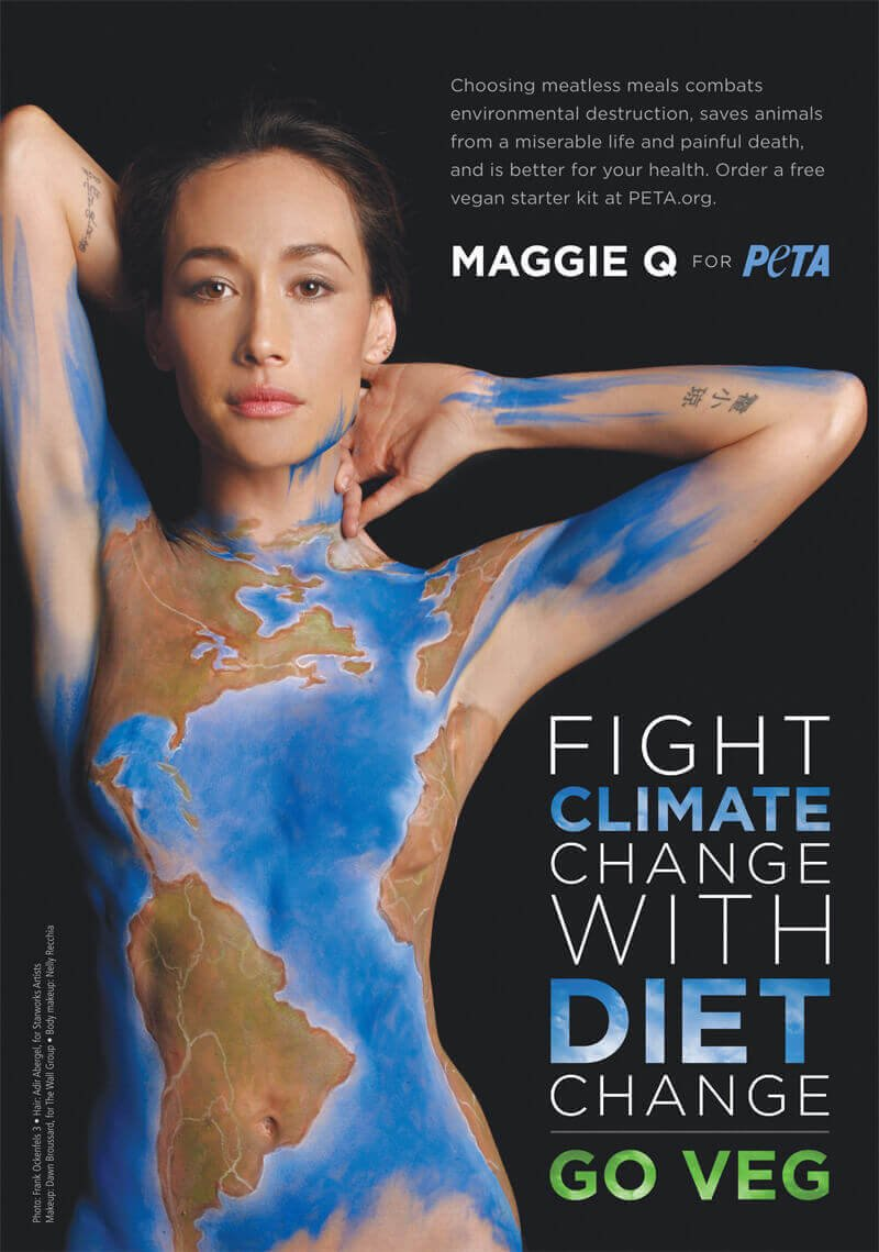 Maggie Q Reveals The Simple Solution To Climate Change Peta