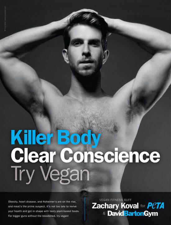 Hot Vegan Dude. No Shirt. You Know You Want to Look | PETA