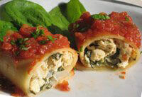 Smothered and Stuffed Cannelloni