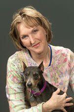 PETA President Ingrid Newkirk and Dog