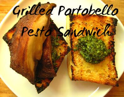 Grilled Portobello Pesto Sandwich