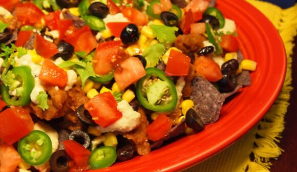 Loaded Nachos With Cashew Cheese