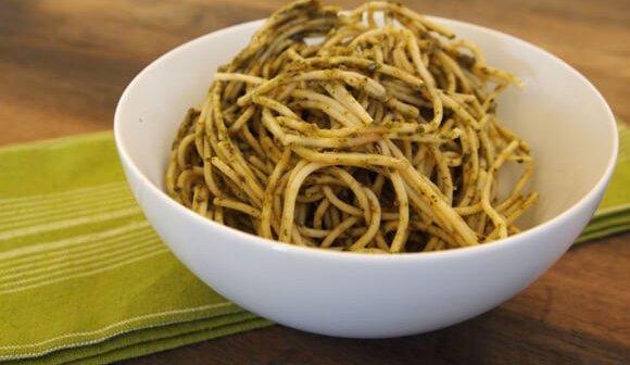 Pasta With Vegan Pesto Sauce