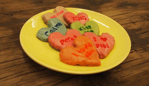 DIY Valentine's Conversation Heart Cookies