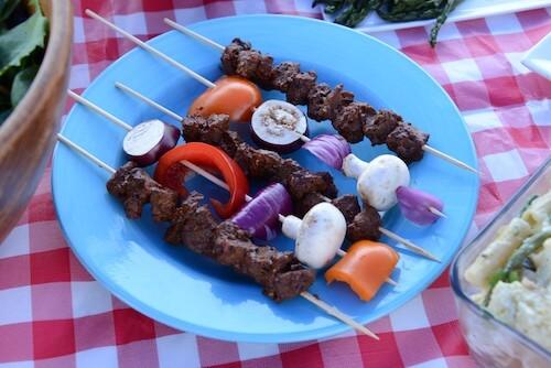BBQ Kebab Beefless Skewers
