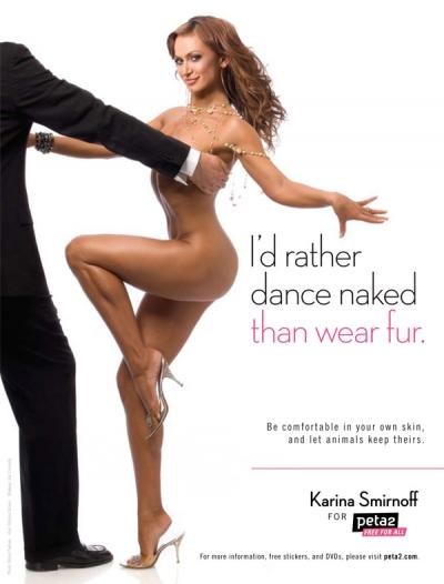 Karina Smirnoff Fur PSA peta2