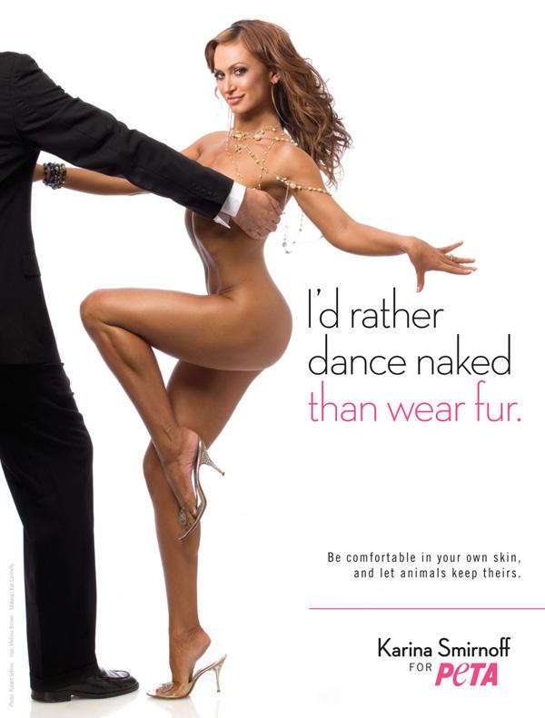 Karina Smirnoff PETA Fur PSA