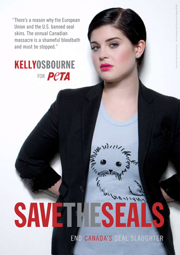 Kelly Osbourne Seal Slaughter PSA PETA