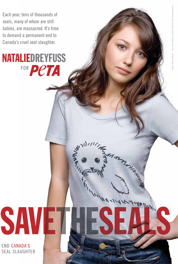 Natalie Dreyfuss print PSA save the seals