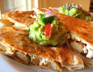 'Chicken' and Mushroom Quesadillas