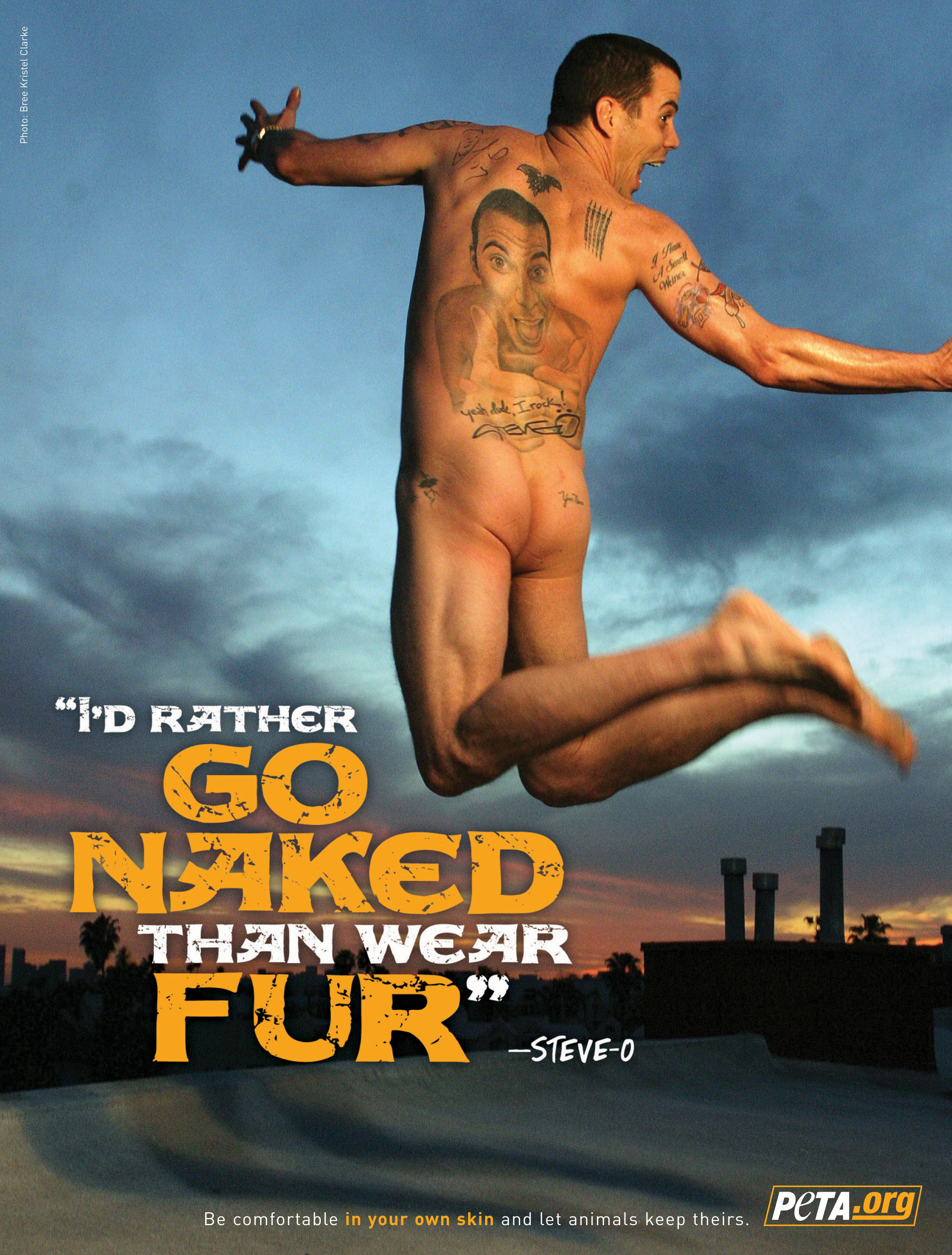 Steve-O: I'd Rather Go Naked Than Wear Fur - PETA