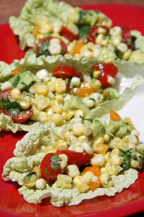 Corn Salad Picnic Wraps
