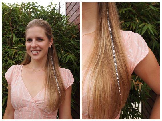 DIY Hair 'Feathers'