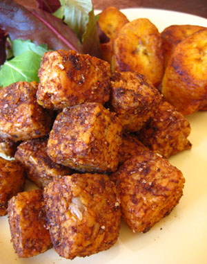 Jamaican Jerk-Spiced Tempeh Nuggets