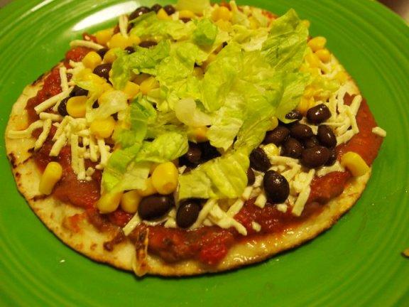 Speedy Mexican Pan Pizzas