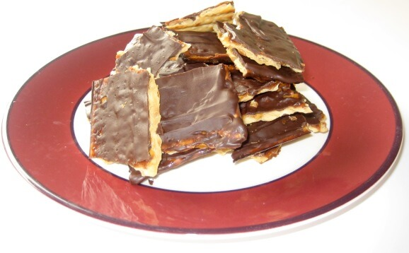 Chocolate Passover Brittle