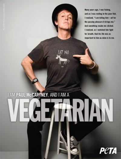 Sir Paul McCartney: I Am a Vegetarian