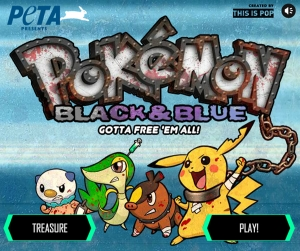 PETA Pokemon Black and Blue Game